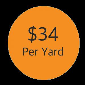 $34 Per Cubic Yard