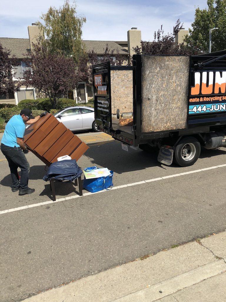 Bye Junk loading Residential Junk Removal